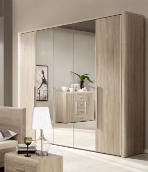 Šatníková skriňa so zrkadlami Volinois RM