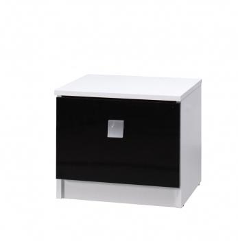 Moderný nočný stolík do spálne Darvin so zásuvkou