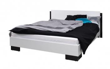 Čiernobiela manželská posteľ Darvin