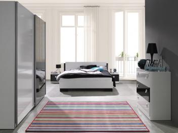 Čiernobiely nábytok do spálne z lamina Darvin