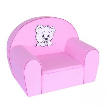 Ružové kreslo pre deti