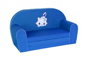 Detská rozkladacia pohovka - modrá
