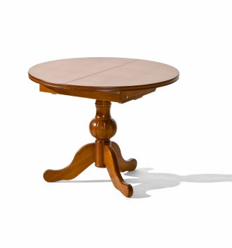 Okrúhly jedálenský stôl z masívu Allegra - rozkladací