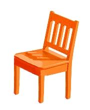 Detská jedálenská stolička Arvin oranžová
