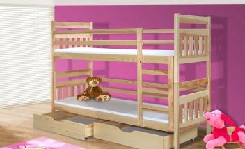 Drevená poschodová posteľ Stefano