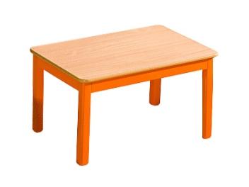 Detský jedálenský stôl z masívu Arvin oranžový
