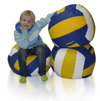 Sedací vak v tvare volejbalovej lopty Volejbal L