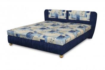 Čalúnená posteľ Bára - modrá