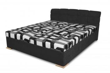 Čalúnená posteľ Violetta - čierna