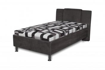 Jednolôžková čalúnená posteľ Monako - čierna