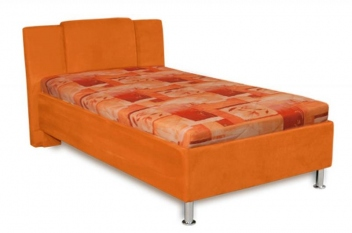 Jednolôžková čalúnená posteľ Monako - oranžová