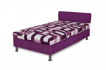 Jednolôžková čalúnená posteľ Tina - lila