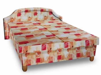 Čalúnená posteľ s úložným priestorom Bianka