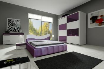 Moderný nábytok do spálne - zostava Amabel