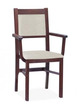 Drevená jedálenská stolička s opierkami Mahana