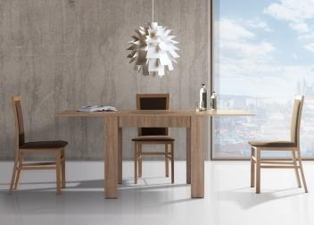 Rozkladací jedálenský stôl a 3 stoličky - zostava Gladis 1