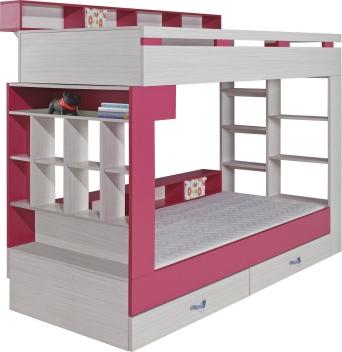 Poschodová posteľ s policami Adela 1