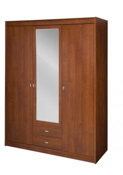 Šatníková skriňa Arleta 2 so zrkadlovými dverami a zásuvkami