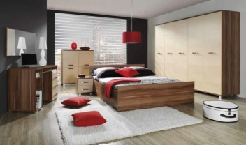 Moderná spálňa s dvomi šatníkovými skriňami Mauricius 3