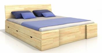 Manželská posteľ Visa 6 - masív borovice
