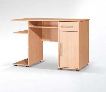Lacný PC stôl so skrinkou a zásuvkou Vašek