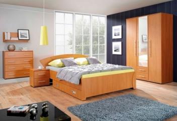 Moderný nábytok do spálne z lamina Mariana