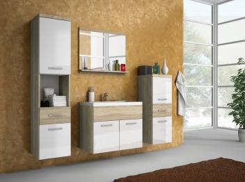 Nábytok do kúpeľne Horace 1 - dub sonoma / biely lesk