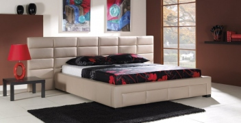Čalúnená manželská posteľ s úložným priestorom Nola A