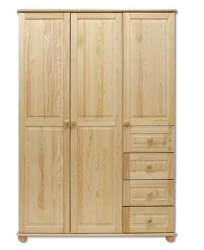Veľká drevená šatníková skriňa Amani