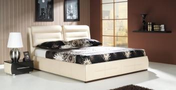 Čalúnená manželská posteľ s úložným priestorom Dolores A