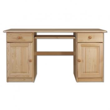 Drevený písací stôl Sampo s výsuvnou doskou na klávesnicu