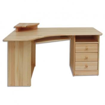 Drevený rohový písací / počítačový stôl Tero