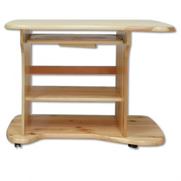 Pojazdný drevený písací stôl Ansi na kolieskach