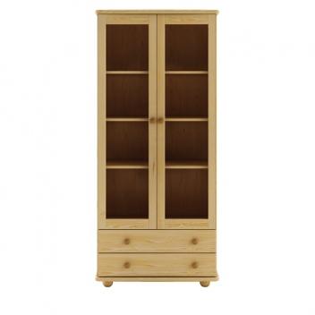 Elegantná vitrína Reidar z borovicového dreva
