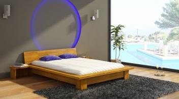 Drevená posteľ Turid s nočnými stolíkmi