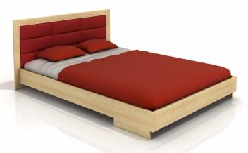 Drevená posteľ Inga 2 s čalúneným čelom