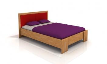 Drevená posteľ Toril 3 s čalúneným čelom