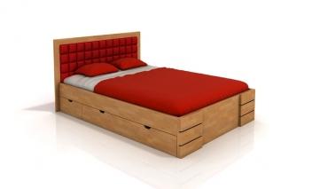 Buková posteľ Erland 5 s úložnými zásuvkami