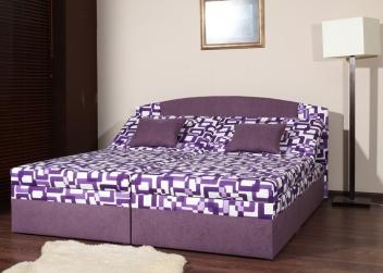 Čalúnená manželská posteľ Diana