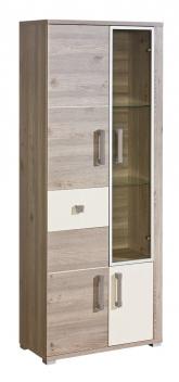 Moderná kombinovaná vitrína Diandra so zásuvkou