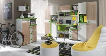 Moderná zostava nábytku do detskej izby Adrien