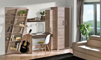 Elegantný nábytok do pracovne Diandra v dekóre duba nelson