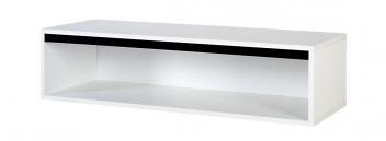 Závesná polica Etel 3 v čiernobielom dizajne