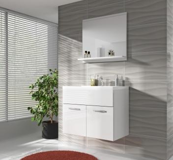 Kúpeľňová zostava Horace 4 - biela / biely lesk