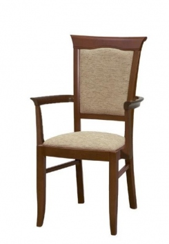 Jedálenská stolička s opierkami Lord 3 - gaštan
