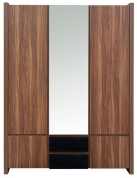 Trojdverová šatníková skriňa so zrkadlom Magnetus 2
