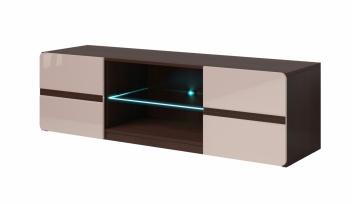 Televízny stolík so sklenenou policou Sicilia 1 tmavá