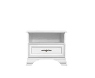 Nočný stolík Lettore - biely