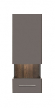 Závesná skrinka Grey 3 - orech columbia / sivý volfrám