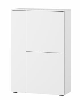 Závesná skrinka Lofera 1 - biela / biely lesk